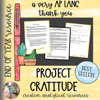 End of Year: Project Gratitude - Final Senior Writing Assignment