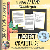 End of Year: Project Gratitude - Final AP Lang Senior Writing Assignment