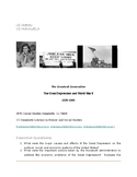 Project- Great Depression and WW II (US History)