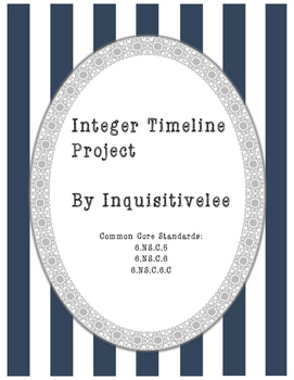 Math Project - Integer Timeline (Common Core Aligned, 6th grade)