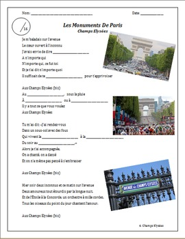 Project - Les Monuments de Paris