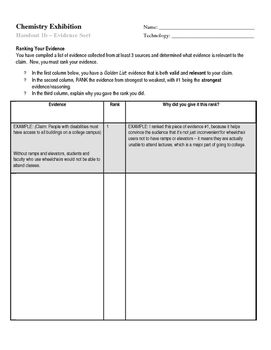 Project (Literacy) - Nuclear Chemistry: Evidence Sort