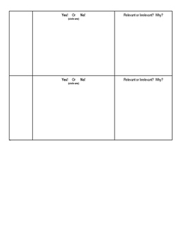 Project (Literacy) - Nuclear Chemistry: Evidence Log