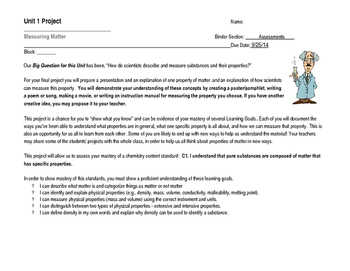 Project - Measuring Matter (physical properties)