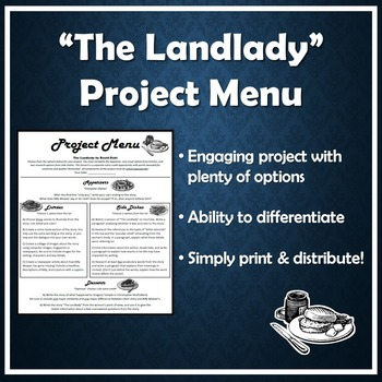 project menu for the landlady by roald dahl by lancy s language arts project menu for the landlady by roald dahl