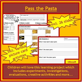K & 1st Project: Pass the Pasta - experiments, investigations, creativity