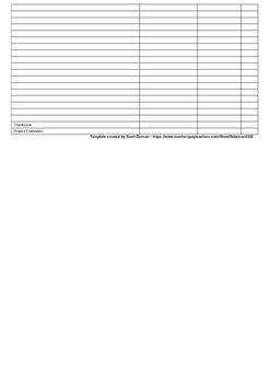 Project Planning Template for Student Councils