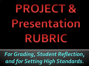 Project & Presentation Grading Rubric - Fantastic For All Content Areas :)