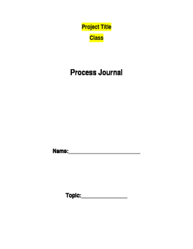 Project Process Journal