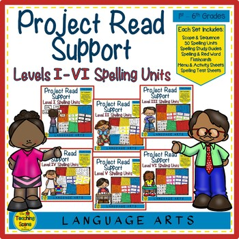 Project Read Support Bundle Spelling Units Levels I VI