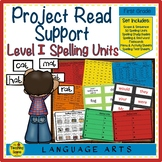 Project Read Support: Level I Spelling Units, Flashcards,