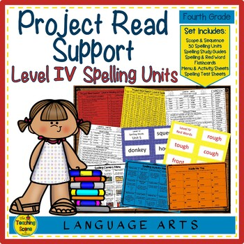 Project Read Level IV: Word Lists, Parent Letter, Practice Sheets & Flashcards