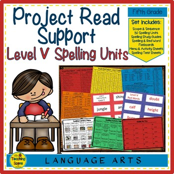 Project Read Support Spelling Units Level V
