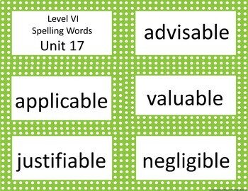 Project Read Support:  Spelling Units Level VI