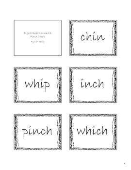 Project Read lesson 13 flash cards/game - consonant digraphs ch and wh