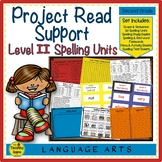 Project Read Support: Level II Spelling Units, Flashcards,