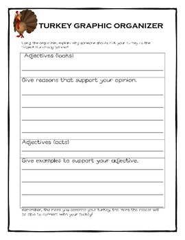 Project Run-away Turkey ~ A Thanksgiving Descriptive Writing Activity