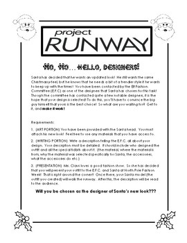 Santa Needs A Makeover- Project Runway Readers' Theater and Writing Activity