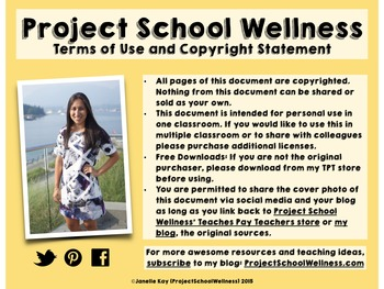 Project School Wellness' Terms of Use and Copyright Statement