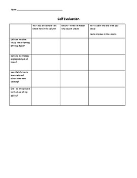 Project Self-Evaluation