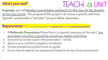 Project: Teach a Unit