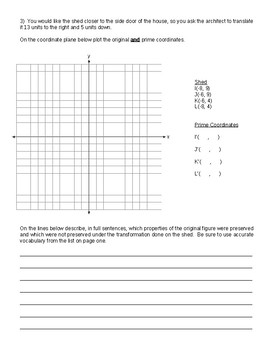 Project Transformations in the Coordinate Plane