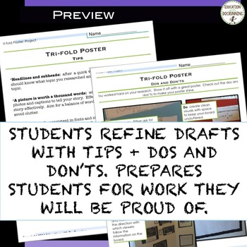 Research Project Tri-fold Poster Presentations (Use for All Subjects)