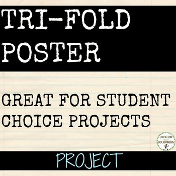 Research Project Tri-fold Poster Presentations (Use for Al