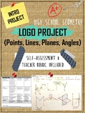 Project - Unique Name Logo using Geometry Building Blocks