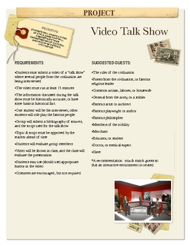 Project: Video Talk Show