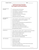 Project and Presentation Self-Assessment Checklist