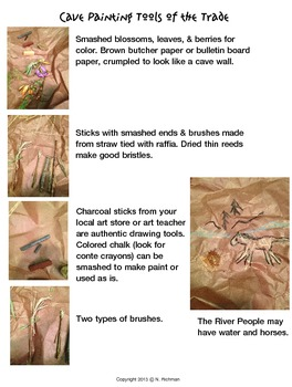 PROJECT-BASED! BE PREHISTORIC CAVE PAINTERS! CREATE TOOLS & PAINT AWAY