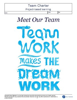 Project-based Learning: Team Charter - Meet the Team