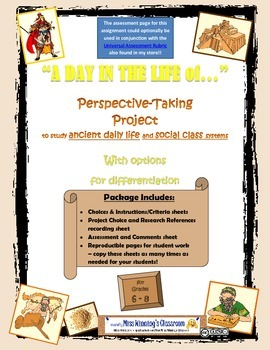 Research & Creative Writing Project: Ancient Daily Life & Social Class Systems