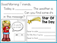 Projectable Morning Messages For Your Kindergarten Classroom