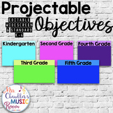 Projectable Objectives Template K-6