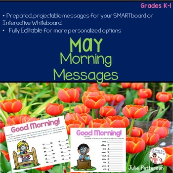 May Morning Messages Projectable and Editable