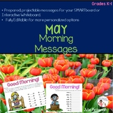 Projectable and Editable May Morning Messages