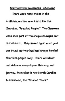Discover Cherokee Tribes in History - with ELA questions
