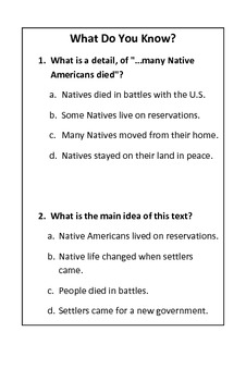 Discover Erie Tribes in History - with ELA questions