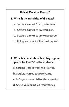 Discover Ottawa & Chippewa Tribes - with ELA questions