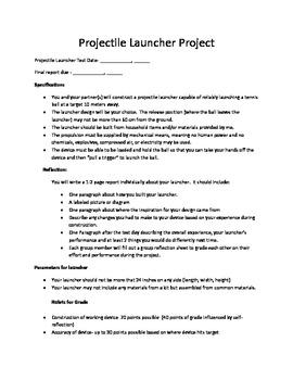Projectile Launcher Design Project