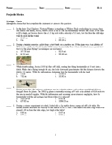 Projectile Motion Problem set 1 v5