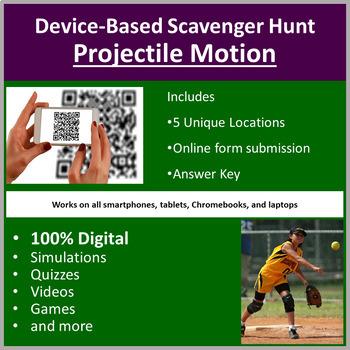 Projectile Motion – A Digital Scavenger Hunt Activity