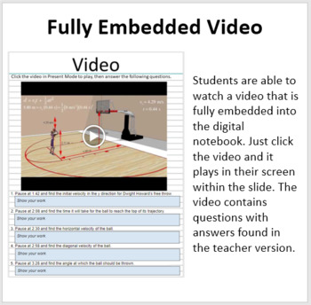Projectile Motion - Digital Interactive Notebook Pages