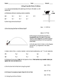 Projectile Motion II - Simple Projectile Motion Problems (with solution)