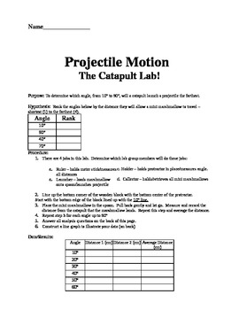 Projectile Motion Lab