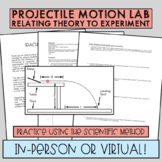 Projectile Motion Lab [AP, IB, AS, and Honors Level Physics]