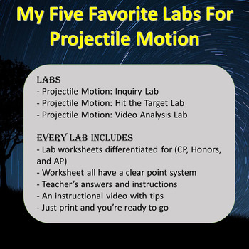 Projectile Motion Lab Bundle