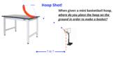 Projectile Motion Lab - Horizontal Basketball Hoop!